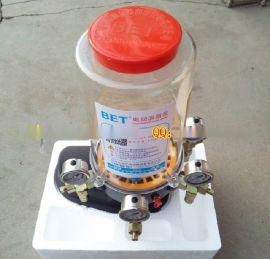 搅拌站搅拌主机电动润滑油脂泵 四出口带压力表 基脂润滑黄油泵