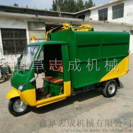 志成电动小型垃圾车自卸式三轮保洁车
