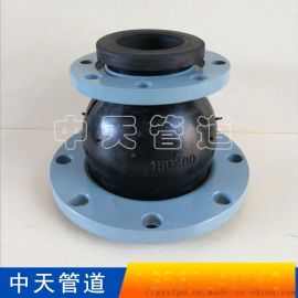 连接简单同心异径橡胶软接头安装方便法兰挠性大小接头