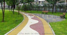 上海誉臻彩色透水沥青路面,透水混凝土材料施工