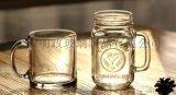厂家生产 玻璃杯 带把杯子 公鸡杯 梅森杯