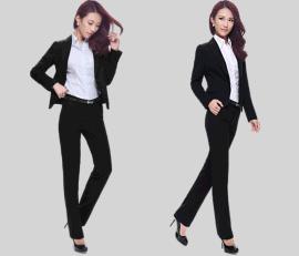 女士西装职业装套装大码商务正装工作服黑色小西服春季新品