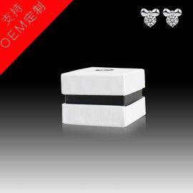 饰品盒 耳钉戒指纸盒 天地盖盒子**婚庆礼品盒黑白经典厂家定制