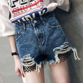 春夏新款韩版女装女士牛仔裤 女士显瘦包臀牛仔短裤