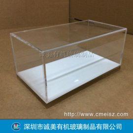 汽车模型有机玻璃展示盒 亚克力产品防尘盒 天地盖