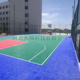环保悬浮地板梯形弹扣篮球场悬浮拼装地板厂家销售