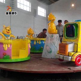 旋转咖啡杯儿童游艺设施 熊出没转杯游乐设备厂家