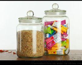 家用玻璃糖果透明防潮密封罐,杂粮储物罐,食品储存罐
