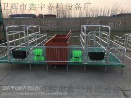养猪分娩保育床 双体母猪产床设备