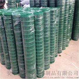 圈道用电焊网 浸塑电焊网 绿色卷电焊网