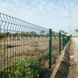绿色护栏网 绿化浸塑围栏网 住宅区围墙装饰围栏