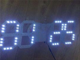 3D电子感光测温时钟IC 单片机电子LED电子时钟芯片