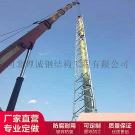 廠家長期煙筒塔 煙囪支架 25米/35米高煙囪鐵塔