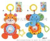毛绒玩具 0-2岁婴幼儿宝宝 小熊/大象车床挂 带牙胶/摇铃81517