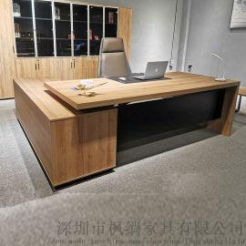 深圳办公家具 2.4米大班台老板桌 总经理办公台