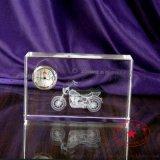 摩托车模型水晶内雕摆件,水晶纪念品,铭升工艺定制