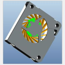 小体积大风量静音离心风扇2504微型投影散热风扇