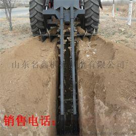 链条式开沟机 电缆铺设开沟机 自来水管道开沟机