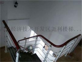 供应钢木楼梯拉丝扶手玻璃扶手