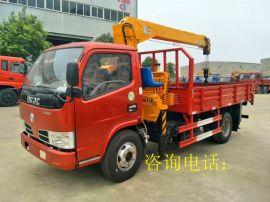 东风福瑞卡随车起重运输车5吨3节直臂吊机