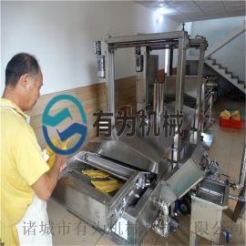 腐竹专用全自动油炸机、山东有为油炸设备专业生产厂家