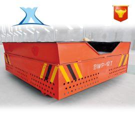 石材运输车供应 集装箱标配电动地轨工具车 轨道地平车油桶搬运