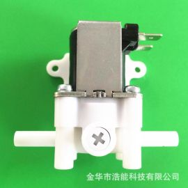 净水器废水比阀电磁阀全铜漆包线质量可靠两头二分快插杆带安装板