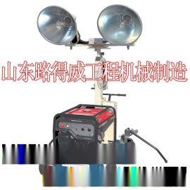 工程照明車 .山東路得威 RWZM22C手推式照明車 移動照明車