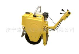进口传动单元小型单钢轮压路机,压实机械路得威小型压路机