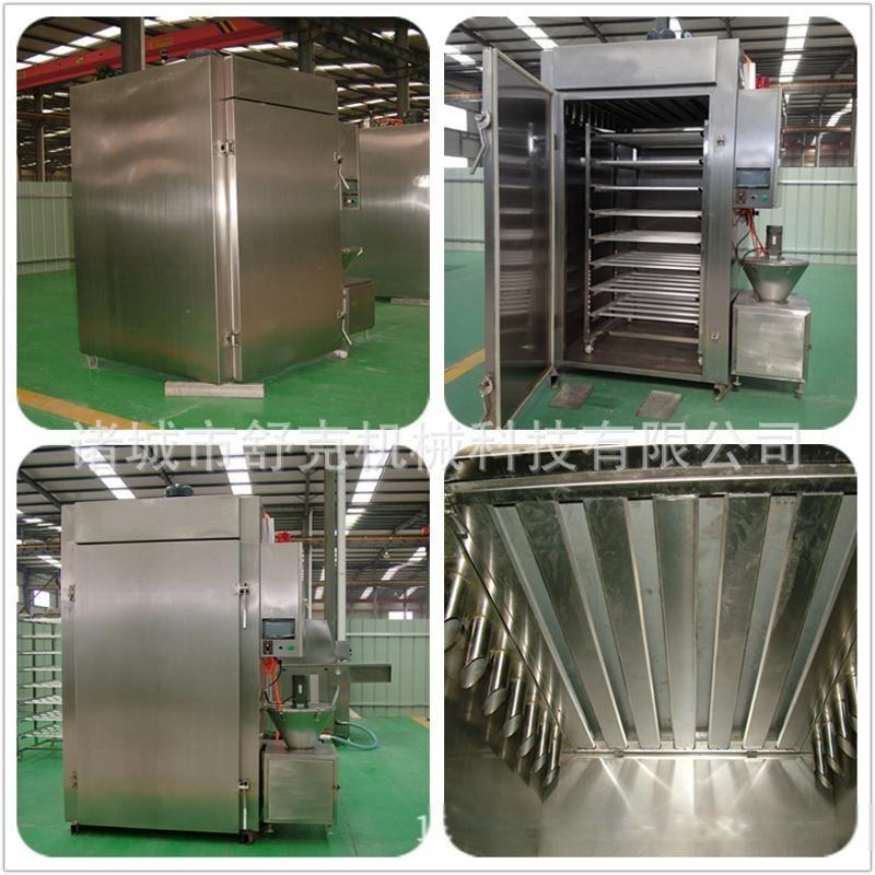 生产厂家供应全自动腊肉烟熏炉 舒克烟熏炉全自动1000型烟熏烤箱