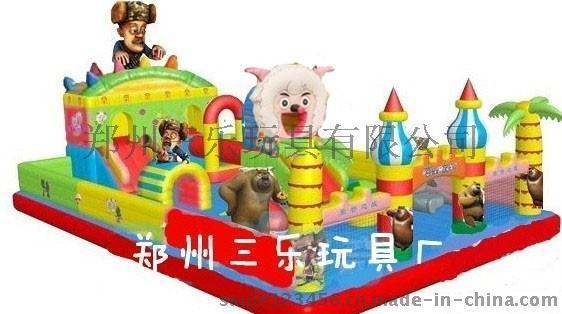 熊羊结合的充气蹦蹦床  滁州一般的充气城堡多少钱