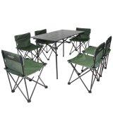 伯顺S8050, 迷你铝桌七件套 ,户外便携折叠桌椅组合套装