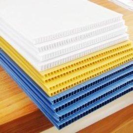 工厂直销PP中空板 透明中空格子瓦楞板 防静电黑色万通板塑料隔板