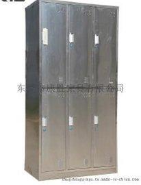 广州不锈钢 衣柜-食品厂车间员工用6门不锈钢柜
