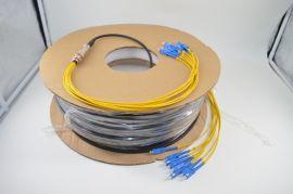 SC/UPC-SC/UPC-SM9/125-8芯野战非铠装GJFJU-TPU软光缆光纤跳线
