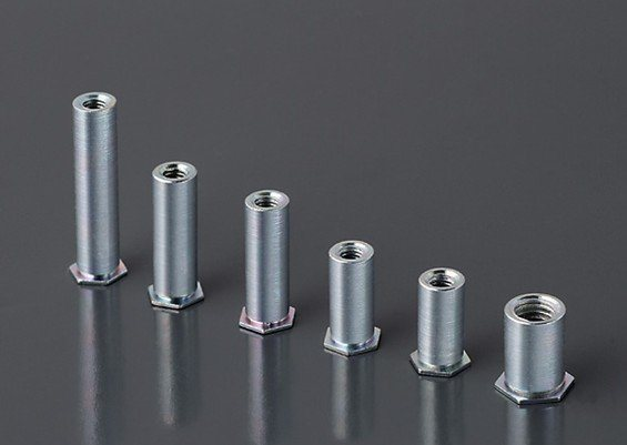 镀锌压铆螺柱BSO-M2-4 BSO-M2-5 BSO-M2-6 BSO-M2-7底孔4.2