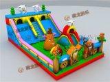 小投资大收益的儿童气垫滑梯生意,流行的儿童充气大滑梯,亲子互动玩具,儿童充气城堡。