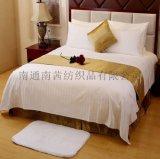廠家直銷星級酒店賓館牀上用品四件套旅館醫院白色緞條布草被套