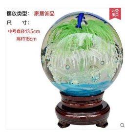 家居客厅装饰礼品电视柜摆件小夜灯结婚礼物夜光转运风水晶玻璃球