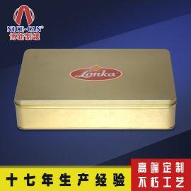 厂家定做**马口铁食品盒 方形中秋铁盒包装 四个装月饼 NC2458B