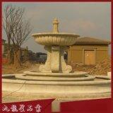 黄锈石水钵现货 园林景观喷泉 黄锈石水钵 石雕喷泉价格