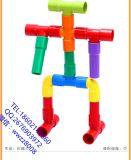 早教益智兒童玩具 塑料積木 拼插拼裝積木 管道積木