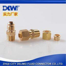 厂家直销 精品黄铜扩口接头 全铜接头JIC黄铜接头