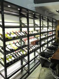 304不锈钢酒架组合到顶酒柜洋酒展示架别墅装饰