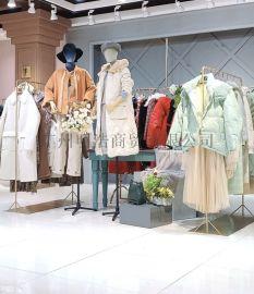 品牌折扣女装艺素国际滩羊毛外套工厂直供货源