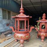 山東香爐生產廠家,供應圓形香爐廠家,圓形六龍柱香爐