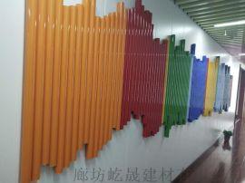 u型铝方通热转印木纹铝方通定做办公室天花铝方通