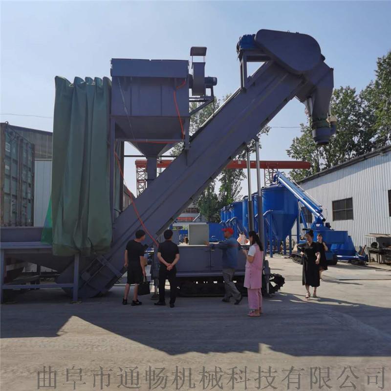 江苏船运集装箱粉煤灰倒料卸车机全自动翻箱卸灰设备