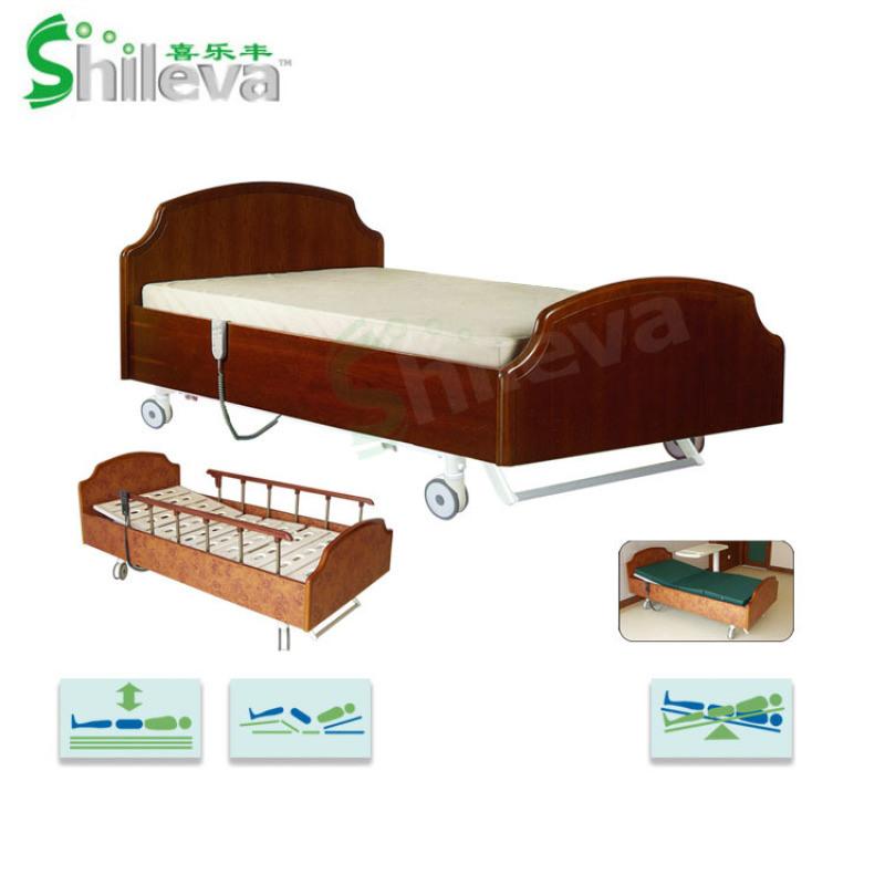 家居护理床, 电动升降护理床,电动实木家居护理床
