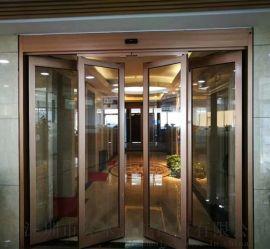 酒店写字楼紧急疏散逃生门自动感应玻璃平移门速推门